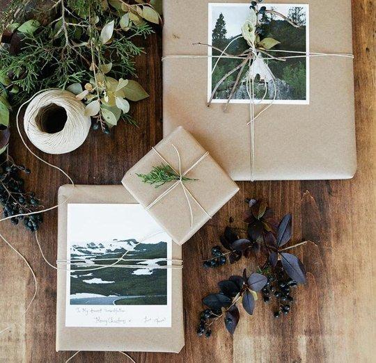 Using Kraft Paper as Gift Wrap