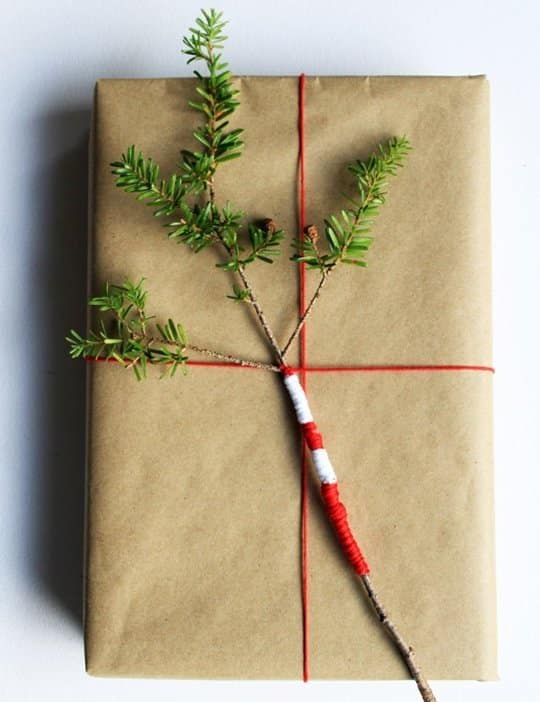 Brown Kraft Paper and Red Twine